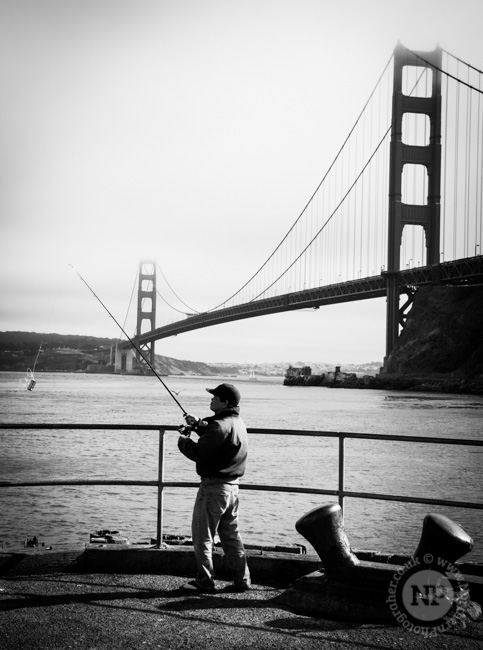Fishing at the Golden Gate Bridge