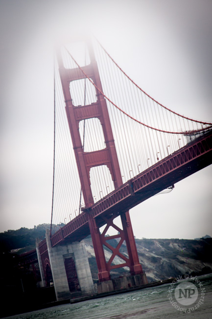Fog descending over the Golden Gate Bridge