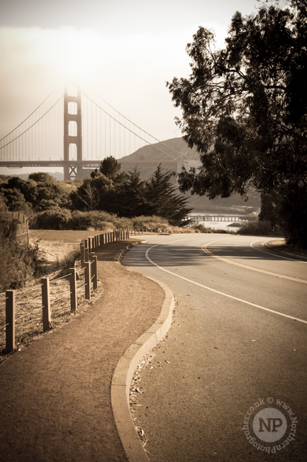Road to The Golden Gate Bridge