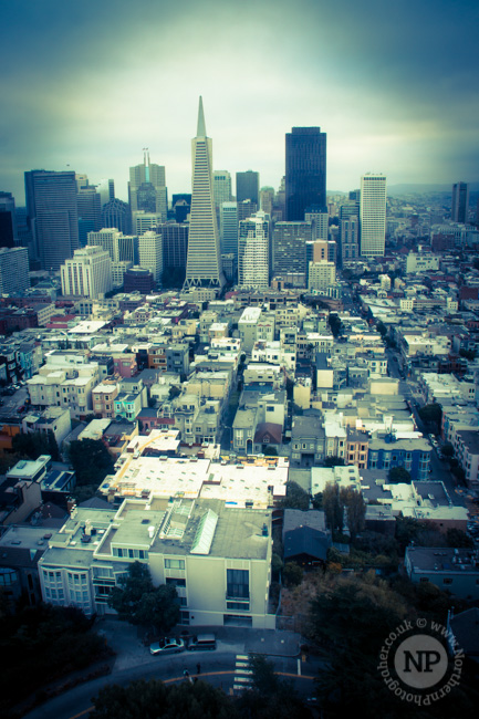 San Francisco from the top of the Coit Tower